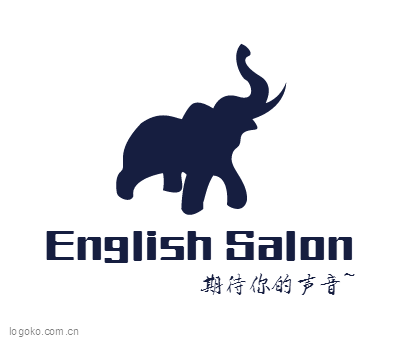 English Salonlogo设计