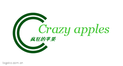 Crazy appleslogo设计